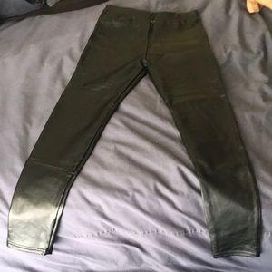 Pants - Women's Pleather Leggings